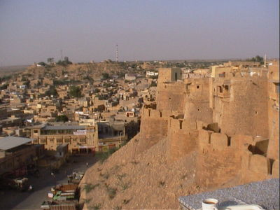 View of Jaisalmer from fort