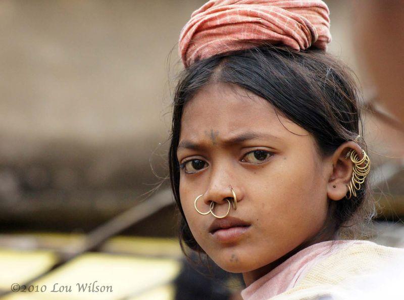 Dongria Kondh Girl At the  Onokudelli Market