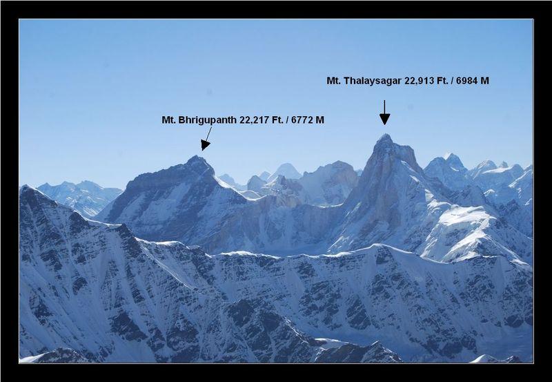 Himalayan Range : Mt. Thalaysagar and Mt. Bhrigupanth