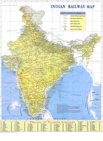 India Railways Map