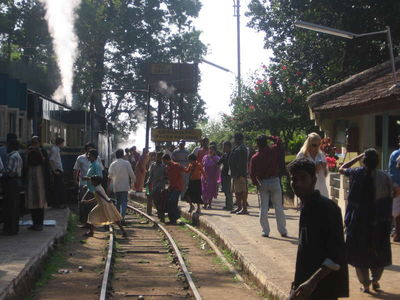 Toy train to ooty- enroute station