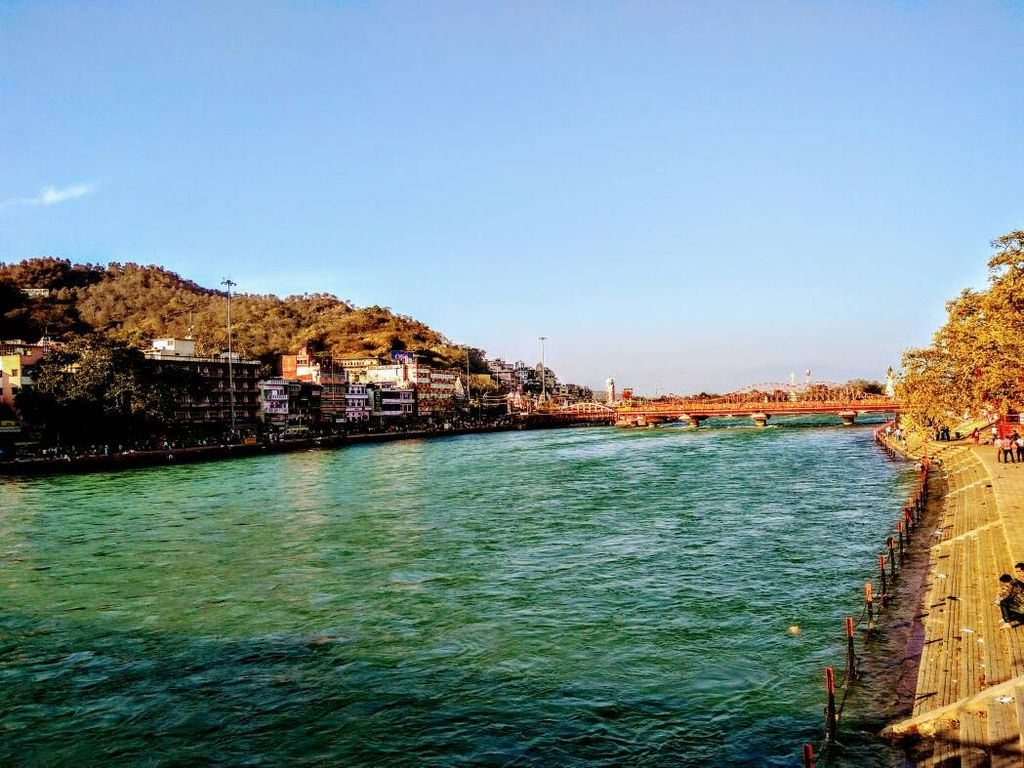 Nature!  Enjoying The beautiful Ganga view at Haridwar.
