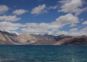 The blues of Pangong Lake- Ladakh by arkapal.  Tags: Jammu and Kashmir, Ladakh, Lakes, Lakes, pangong lake, changthang ladakh.