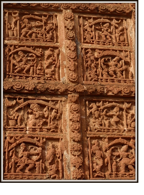 Terracotta Art On Bishnupur Temple Wall India Travel