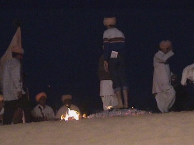 Desert Festival '03, Jaisalmer. Walking on fire.