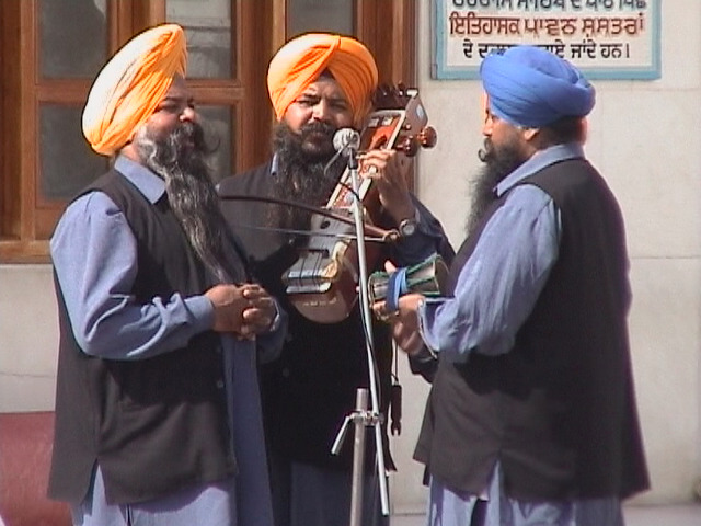 Golden Temple, Amritsar. Musicians