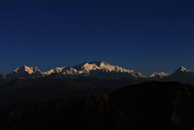 Sleeping Buddha range from Sandakphu
