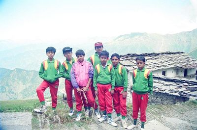 Young trekkers at Tungnath