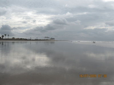 Digha, Old digha Beach to the left of the hotels