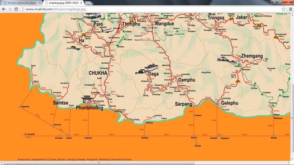Bhutan Map Screen Shot 2