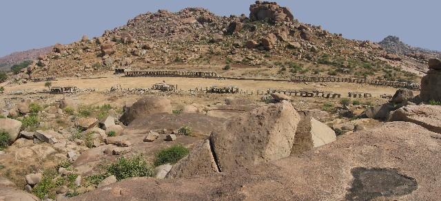 Ancient market in Hampi
