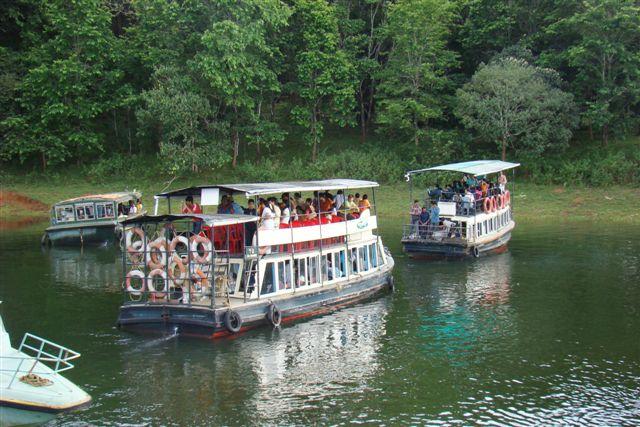 Boat rides at Periyar Sanctuary, Thekkady