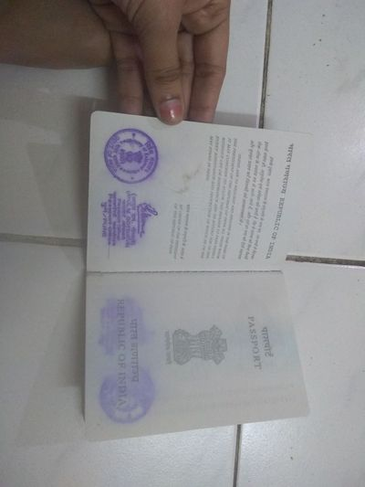 water damaged passport