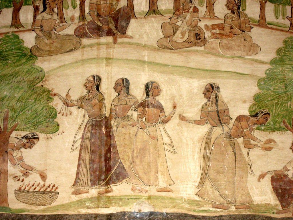 India Travel   Pictures: Nagaur fort fresco