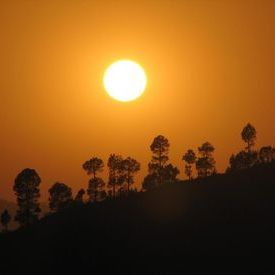 Sunset near my village in Uttaranchal