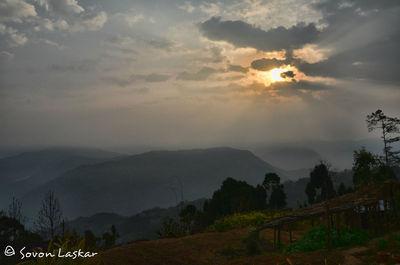 Sunrise from Abiraj Homestay