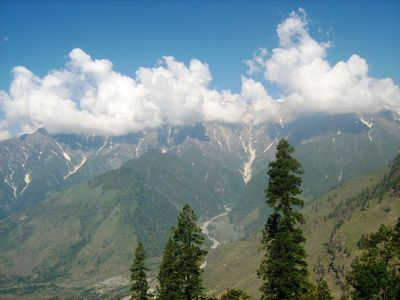 Snow Capped Mountains -- Manali