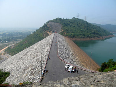 Panoramic view of lower dam, ajodhya, purulia