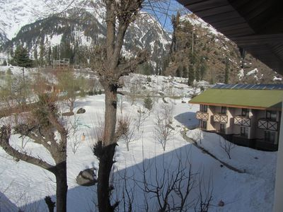 From the Balcony of the Solang Valley Resort