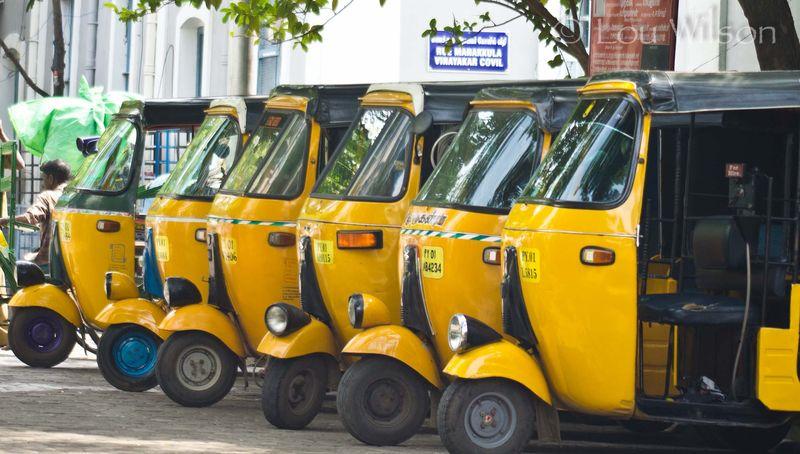 Taxi Rickshaws in Pondicherry