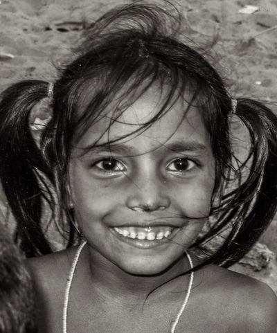 Little Girl At The Fishing Village