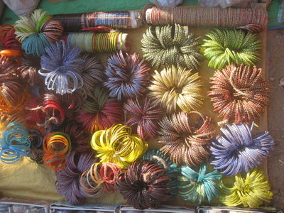 Bangles in a market near Kanha