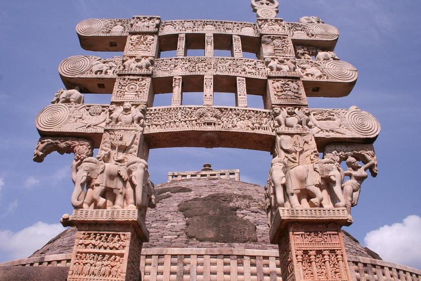 the symbol of the great stupa and sanchi an architectural monument in india Gateway of great stupa of sanchi , buddhist monument of sanchi ancient gate of sanchi an ancient/old architecture in the great stupa of sanchi, india.