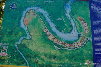 General Map of Ajanta Gorge in Parking Lot