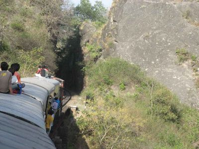 On top of the Kangra toy train