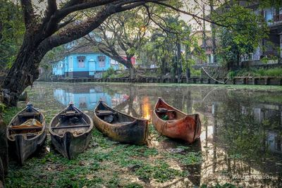 Peaceful Canal In Alleppey Kerala South India