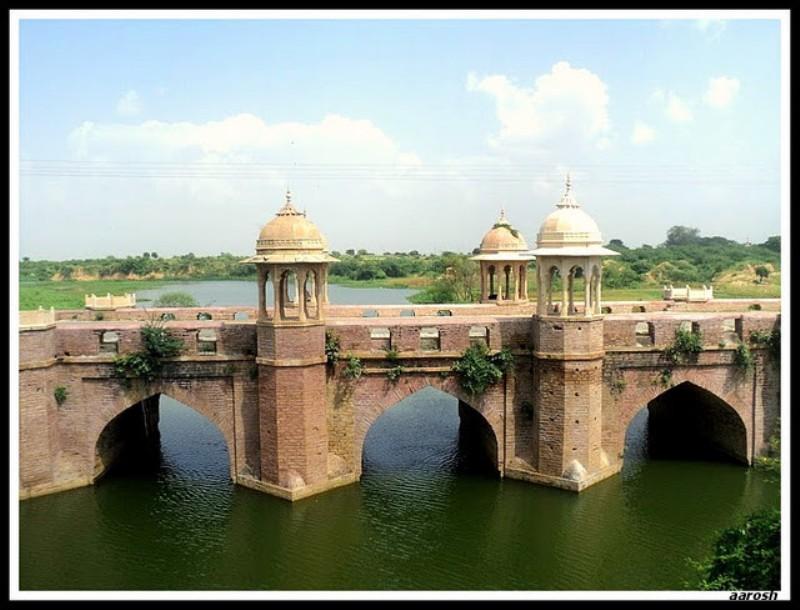 Ancient Mughal Bridge At Noorabad