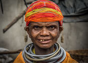 Bonda Tribal Lady by Lou Wilson.  Tags: Odisha, Odisha, Koraput District, Koraput District, Tribal Culture, Tribal Culture, bonda.