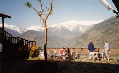 View from Naggar Castle Hotel, HP
