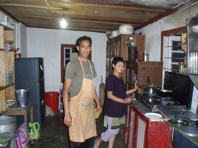 Kitchen at home stay ,Yangsum,Sikkim