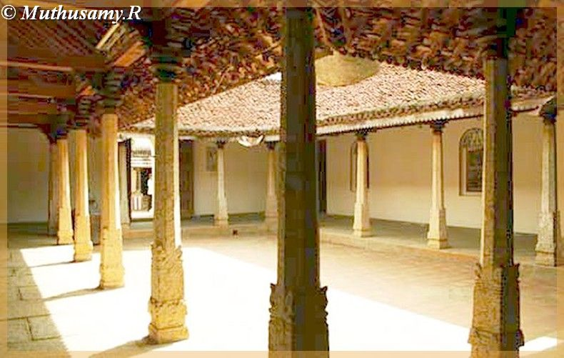 dakshinachitra  inerior courtyard of merchants house from chettinad tamilnadu