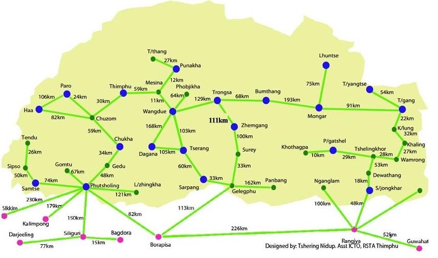 Bhutan Road Map India Travel Forum IndiaMikecom