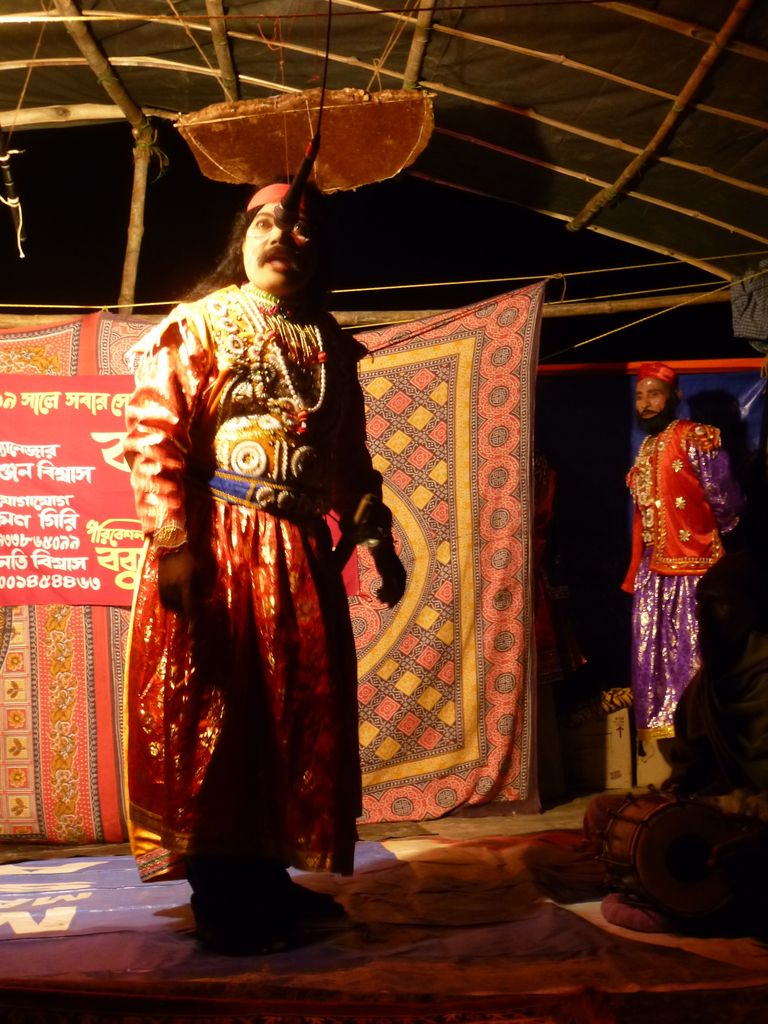Sunderban locals perform a play about life in the Sunderbans