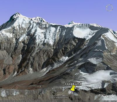 Trishul View from Junar-Gali (from Google Earth)