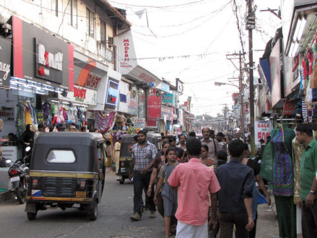 Calicut (Kozhikode) shopping street