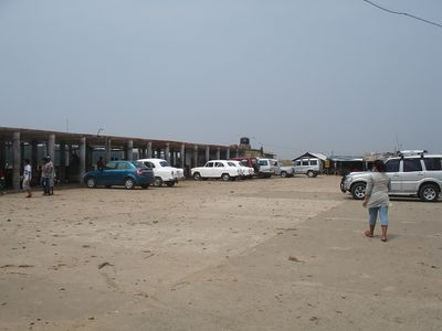 Talsari beach parking lot
