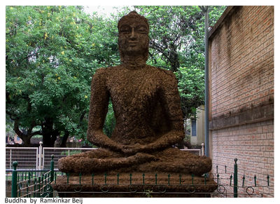 Lord Buddha - man of peace at a peaceful place