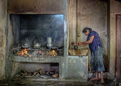 Wood Fired Kitchen by Lou Wilson.  Tags: Sri Lanka.
