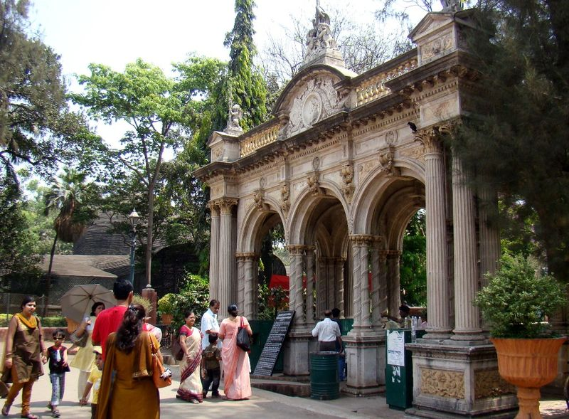 Mumbai heritage - Archway at the Victoria Gardens a.k.a the Byculla zoo