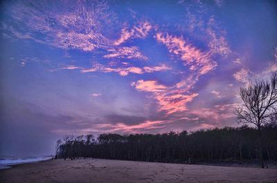 Amazing sunset at Havelikothi, end of Bhitarkanika mangrove forest, Odissa