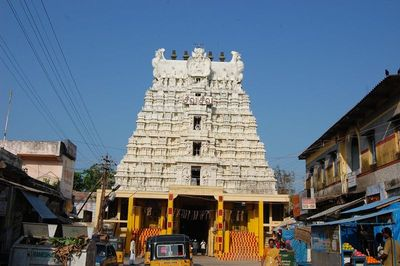 West Wing entrance of the Ramanathaswami Temple