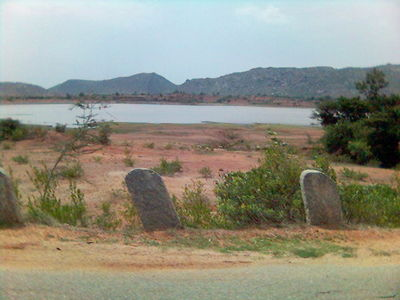 a semi-dried lake enroute nandi hills, near bangalore