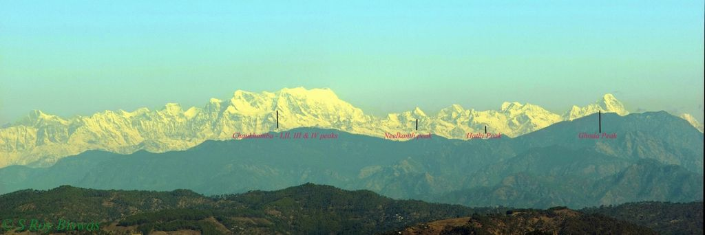 Peaks around Chaukhamba - as seen from Timila