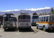 The Leh Bus Stand, 2005 by mridula.  Tags: Leh, Jammu and Kashmir, Transportation, Buses in India, bus.