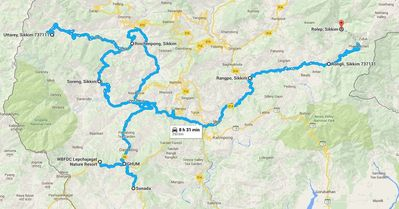 Route Map Rolep Tour