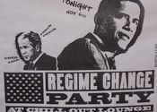 Obama - Regime Change - From King George by Lou Wilson.  Tags: City Life.